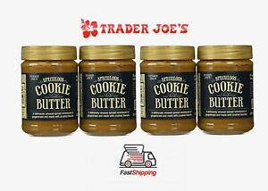 🔥 4 X Trader Joe's Speculoos Cookie Butter 14.1oz NEW Free Priority Shipping