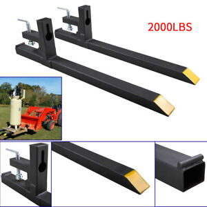 2000lbs Capacity Clamp on Pallet Forks Loader Bucket Skidsteer Tractor chain $87.99