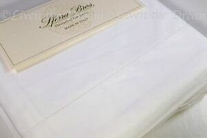 Sferra * 100% LONG STAPLE COTTON * White KING Crisp Percale 4PC Sheet Set Italy