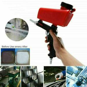 Portable Media Spot Sand Blaster Gun Hand Held Air Gravity Sandblaster Feed Z1D9