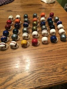 Vintage,Lot of 41,NFL Mini Helmets,Gumball,assorted