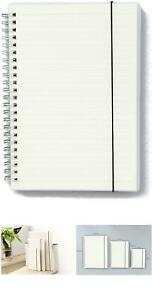 Wirebound Dot Grid/Square Grid/Ruled/Blank Notebook, Size B5/ A5/ A6, Transparen