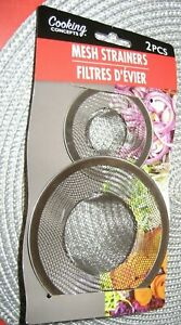 Cooking Concepts 2 Piece Mesh Strainers Kitchen Sink Accessories