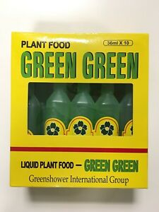5 Bottles- GREEN GREEN Plant Food Liquid Fertilizer for Lucky Bamboo and Plants