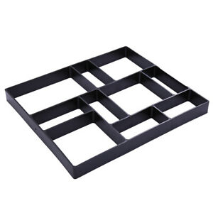 Grid Driveway Paving Pavement Mold Concrete Stepping Stone Path Maker