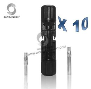 10  pairs MC4 Male and Female Waterproof Solar Connectors(10 pairs)