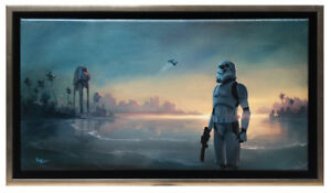 Star Wars Rogue One SCARIF FORCES by Rob Kaz Framed Giclee on Canvas Wall Art $150.00