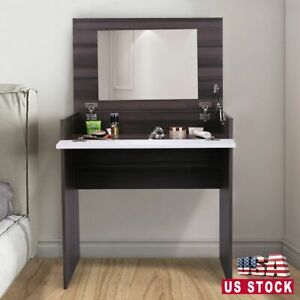 Dressing Table w/Flip-Up Mirror & Jewelry Storage Space Chic Makeup Vanity Table