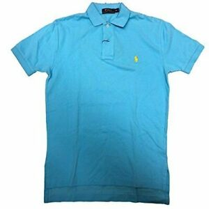 Ralph Lauren Polo Mens Classic Mesh Short Sleeve Shirt French Turquoise LARGE $26.99