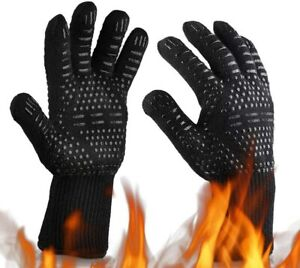 BBQ Heat Resistant 932℉ Silicone Kitchen Oven Cooking Grilling Bake Mitt Gloves