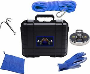 Magnet Fishing Kit with Case Strong Magnet for Magnet Fishing with 1430 Pound Pu