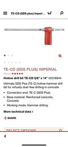 HILTI TE CD 5 8 x 14 Hollow Hammer Drill Bit *SDS Plus* Dust Free 2018944