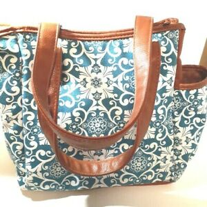 Fit & Fresh Women's Vienna Insulated Pocket Lunch Tote Signature Tag Cooler Bag