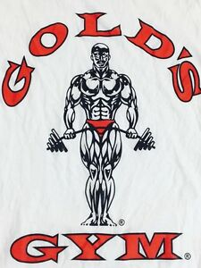 Golds Gym Shirt White Tank Top Muscle Beach Workout Yoga $35.00