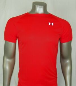 Under Armour HeatGear Short sleeve Fitted T Shirt Color: Orange New $12.99