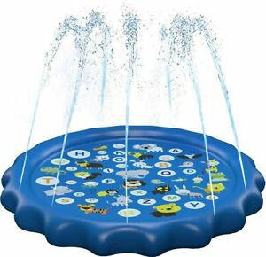 Splash Pad Sprinkler for Kids and Wading Pool Childrens Inflatable Water Toys