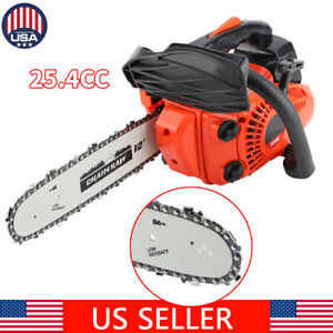 900W 12quot; Gasoline Chainsaw Wood Cutting Grindling Machine US Stock $98.79