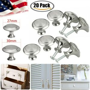 Stainless Steel Knobs Handles Drawer Kitchen Cupboard Round Cabinet Pulls 20PACK