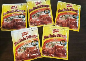 5x French's Hot Buffalo Wings Seasoning Bag Pouch Mix Spice Lot Oven Roasted HTF