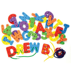 WONDERFOAM LACING LETTERS & NUMBERS PRESENT FOR KIDS MOTOR SKILLS FREE SHIPPING