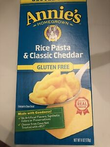 Annie's Homegrown-Rice Pasta & Cheddar, Pack of 10( 6 oz boxes )