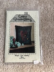 Cozy Quarters From The Heart Pillow Wool Sewing Pattern Size 11 1 2 X 14 1 2 $4.99