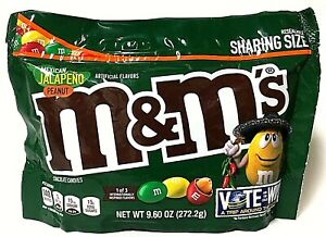 Mexican Jalapeño Peanut M&M's 9.6oz Sharing Size Resealable Candy Discontinued