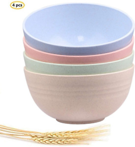 Unbreakable Cereal Salad Soup Bowls Wheat Straw Bowls 24 OZ Lightweight