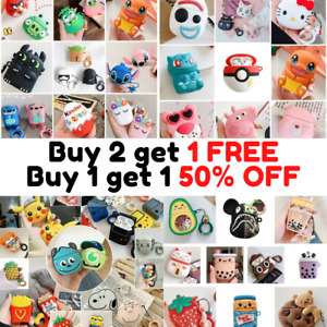 For AirPods PRO Cute 3D Cartoon Design Silicone Case Protective Cover Best NEW
