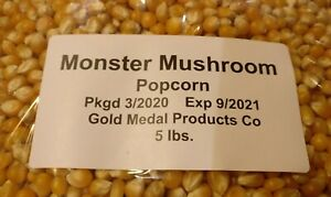 5lb (2200g) Gold Medal Monster Mushroom Bulk Packed Popcorn Kernels Kettle Corn