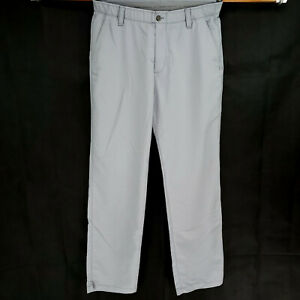Under Armour 36x34 Stretch Golf Pants Solid Gray White Modern Casual Chino Flex $38.99