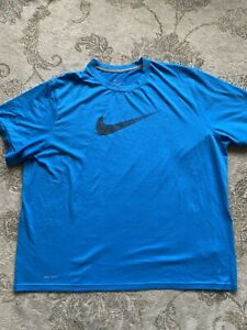 nike dry fit shirt Blue Shirt Size XXL $14.70