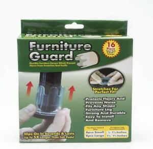 Furniture Guard Fits Any Shape Leg 16 Pieces Flexible Protect Floors No Scratch