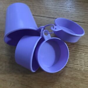 Purple Measuring Cups 1 Cup 1/2 1/3 1/4 Baking Cooking Kitchen Essential Tools