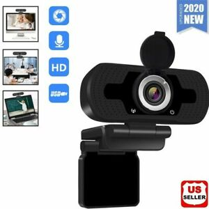 1080P Full HD USB Webcam for PC Desktop Laptop Web Camera with Microphone FHD $14.98