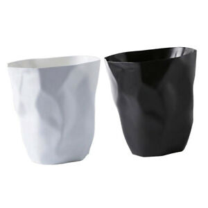 2pcs Round Open Trash Can Rubbish Bin Creative Garbage Waste Home Office 9L