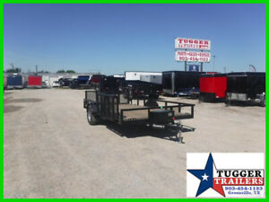83X14 14Ft Steel Heavy Duty Equipment Flatbed Work Play Toy Side Camp Trailer