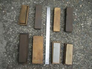 Eight (8) Assorted Grit Professional Knife, Knives, Sword Sharpening Stones
