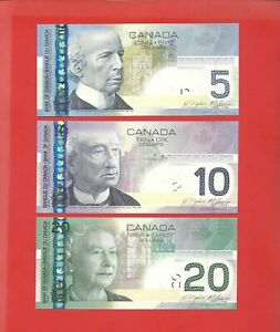 Canada 2004 06 $5 10 20 2004 06 all Jenkins * Carney set of 3