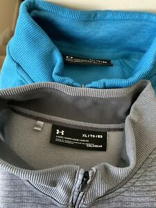 Under Armour Mens 1 4 Zip Pullover Top HeatGear Size XL Lot Of Two $36.00