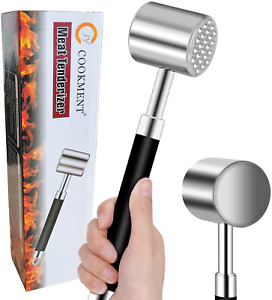 Meat Tenderizer Hammer Mallet Tool Pounder For Tenderizing Steak Beef And Poultr