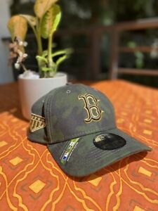 New Era Boston Red Sox 39Thirty Camo Armed Forces Day Flex Fitted Hat Size SmMd