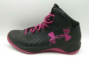 Under Armour Basketball Jet Black Pink Athletic Shoes 1259035 064 Women's Sz 9 $22.86