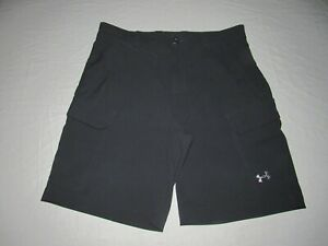 Under Armour Men's Dark Gray Heat Gear Loose Golf Cargo Shorts Size Waist 34 $16.50