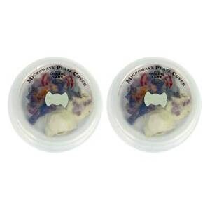 Fox Run Microwave Splatter Shield Plate Food Cover 9.5 in Steam Vent Clear, 2-PK