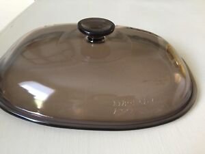 Magnawave Glass Amber Colored Replacement Lid Oval Roaster