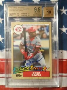 2014 Topps Archives Future Stars Autographs Eric Davis BGS 9.5 Gem Mint 25