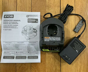 RYOBI P118B ONE 18V LITHIUM ION LI ION DUAL CHEMISTRY BATTERY FAST CHARGER NEW