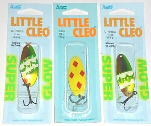 Acme Little Cleo 1 3 Spoons Lot of 3 Yellow Red Glo Sldg Hammer