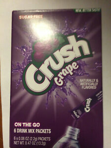 Grape  CRUSH DRINK SINGLE TO GO ON THE GO 10 Boxes Only